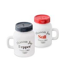 Солонка и перечница Mason Jar, цвет белый - Balvi