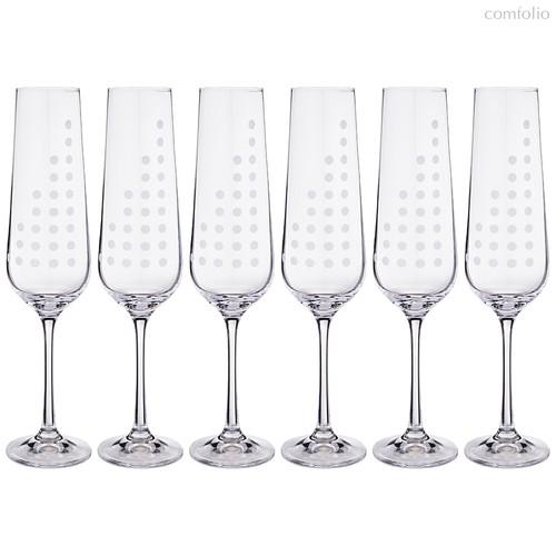 Набор бокалов для шампанского из 6 шт. SANDRA 200 мл ВЫСОТА 25 см - Crystalex