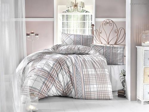 Постельное белье Ranforce 50х70*1 шт VIOLA, цвет коричневый, 1.5-спальный - Altinbasak
