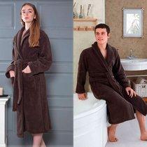 Домашний халат Karna Mora, цвет коричневый, размер XL - Karna (Bilge Tekstil)