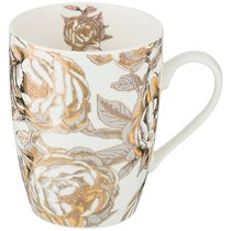Кружка Golden Rose 400 мл, Белая - Porcelain Manufacturing Factory