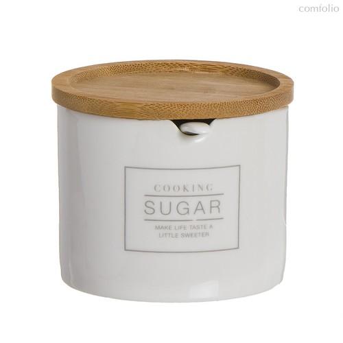 Сахарница с ложкой Essential 200гр, цвет белый - D'casa