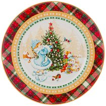 Тарелка Десертная Снегурочка 21 см - Jinding