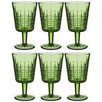 Бокалы для вина Графика 6 шт. Серия Muza Color 300 мл Высота 16 см - Dalian