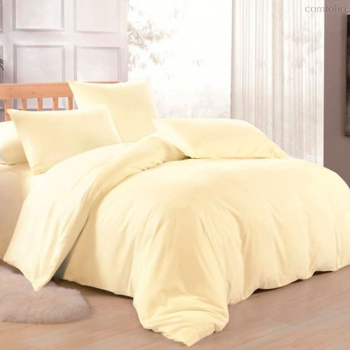 Канарейка - комплект постельного белья, цвет светло-желтый, 2-спальный - Valtery