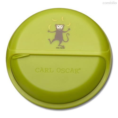 Ланч-бокс для перекусов BentoDISC™ Monkey лайм, цвет зеленый - Carl Oscar