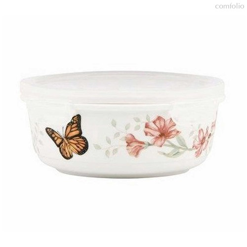 """Емкость для хранения продуктов с крышкой Lenox """"Бабочки на лугу"""" 600мл - Lenox"""