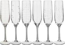 Набор бокалов для шампанского из 6 шт. ELEMENTS190 мл ВЫСОТА=24 СМ. - Crystalex