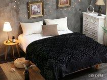 Плед Cleo MORESKA велсофт 200/015-OPM, цвет черный, 200 x 220 - Cleo
