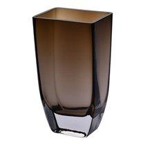 Ваза Krosno Призма 22см, стекло, дымчато- коричневая - Krosno