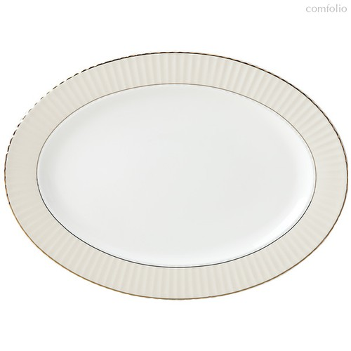 """Блюдо овальное Lenox """"Цветное плиссе"""" 40см (серое), цвет серый - Lenox"""