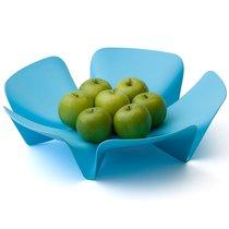 Ваза для фруктов Flower голубая - Qualy