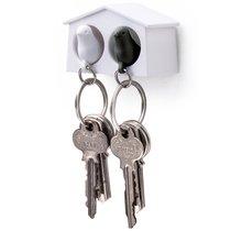 Держатель для ключей двойной Mini Sparrow белый-черный - Qualy