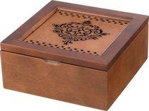 Шкатулка Для Чая Коричневая С 4-Мя Секциями 18x18x8,2 см - Polite Crafts&Gifts