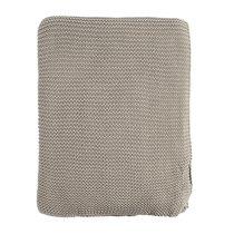 Плед жемчужной вязки серого цвета Essential, 180х220 см - Tkano