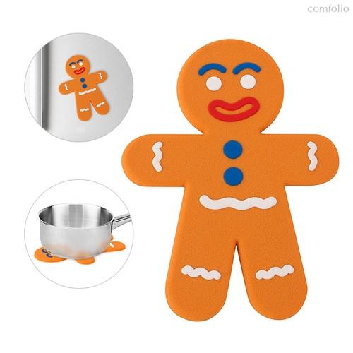Подставка под горячее The Man магнитная, цвет оранжевый - Balvi
