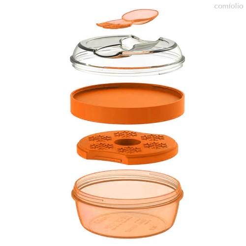 Ланч-бокс с охлаждающим элементом N'ice Cup™ оранжевый, цвет оранжевый - Carl Oscar
