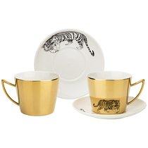 Чайный Набор Tiger На 2Пер. 4Пр. 220Мл, Золотой - Rongshengyuan