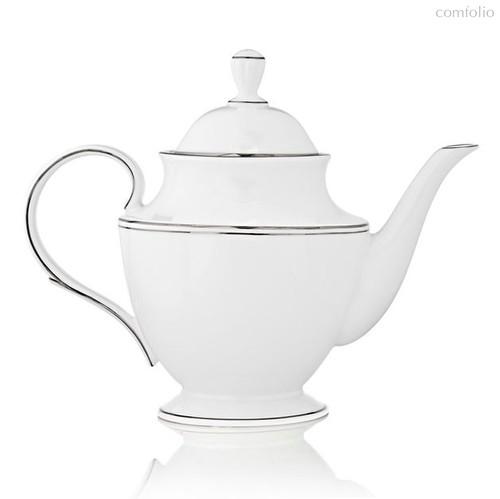 """Чайник Lenox """"Федеральный,платиновый кант"""" 1,2л, цвет белый/серебряный - Lenox"""