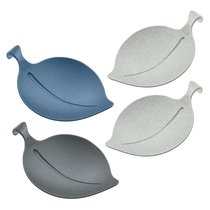 Набор из 4 подставок LEAF-ON Organic синий-серый - Koziol