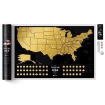 Карта Travel Map USA Black - 1DEA.me