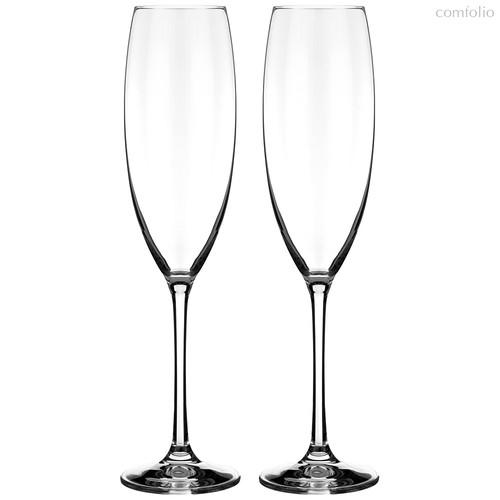 Набор бокалов для шампанского из 2 шт. GRANDIOSO 230 МЛ ВЫСОТА=27 СМ (КОР=12Набор.) - Crystalex