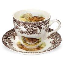 """Чашка чайная с блюдцем 200мл """"Английские охотничьи мотивы"""" - Spode"""