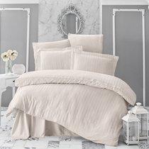 Постельное белье Karna Perla, бамбук, цвет кремовый, 2-спальный - Bilge Tekstil