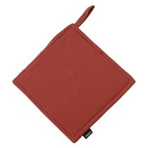 Прихватка из хлопка терракотового цвета из коллекции Prairie, 22х22 см - Tkano