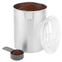 Емкость для сыпучих продуктов с мерной ложкой 12*16см Eclipse, цвет металл - BergHOFF