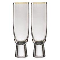 """Набор фужеров для шампанского Lenox """"Трианна"""" 325мл, 2шт, (дымчатый), цвет кофейный - Lenox"""