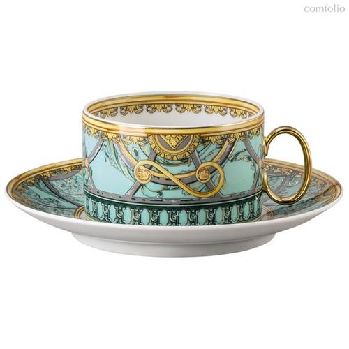 """Чашка чайная с блюдцем Rosenthal Versace """"Ла Скала"""" 200мл (зеленая) - Rosenthal"""