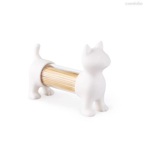 Емкость для соли, перца или зубочисток Cat белый, цвет белый - Balvi