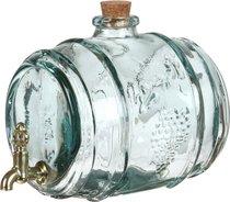 Емкость Для Алкоголя Бочка 2200 мл 16*20 см - Vidrios Reciclados San Miguel