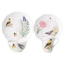 """Сервиз чайно-столовый Lenox """"Бабочки на лугу. Птицы. Щегол"""" на 4 персоны 16 предметов - Lenox"""