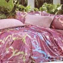 Комплект постельного белья С-137, цвет фиолетовый, размер 1.5-спальный - Valtery