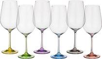 Набор бокалов для вина из 6 шт. RAINBOW 350 МЛ ВЫСОТА=22 СМ (КОР=8Набор.) - Crystalex