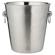 Ведерко для охлаждения игристых вин Barware 4 л серебро - Viners
