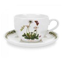 "Чашка для завтрака с блюдцем Portmeirion ""Ботанический сад. Маргаритка"" 500мл - Portmeirion"