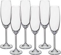 Набор бокалов для шампанского из 6 шт. GASTRO/COLIBRI 220 МЛ ВЫСОТА=24 СМ (КОР=8Набор.) - Crystalite Bohemia