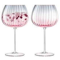 Набор из 2 круглых бокалов Dusk 650 мл розовый-серый - LSA International