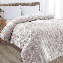 "Плед KARNA вельсофт жаккард ""PIRAMIT"" 160x220 см, цвет серый, 160 x 220 - Bilge Tekstil"