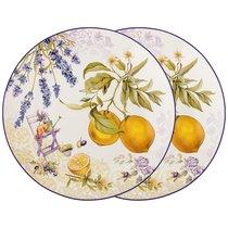 Набор Тарелок Закусочных Прованс Лимоны Из 2 Шт, цвет желтый, 20 см - Meizhou Yuesenyuan