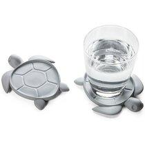 Подставка под стаканы Save Turtle, серый - Qualy