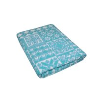 Морская Волна Уют 5772ВЖК 215х150 100% х/б Байковое жак одеяло Ермолино, цвет синий - Ермолино
