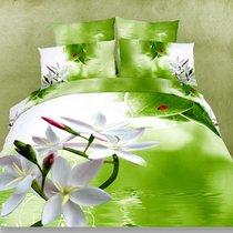 Delicate flowers - комплект постельного белья, цвет зеленый, размер Евро - Famille