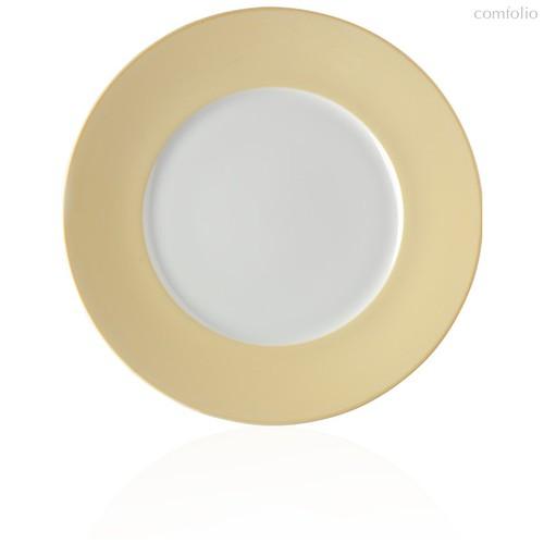 "Тарелка закусочная 22см ""Альта"" (желтый борт) - Noritake"