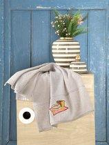 """Кухонные полотенца махровые """"KARNA"""" BREAKFAST 45х70 см 1/1, цвет бежевый - Bilge Tekstil"""