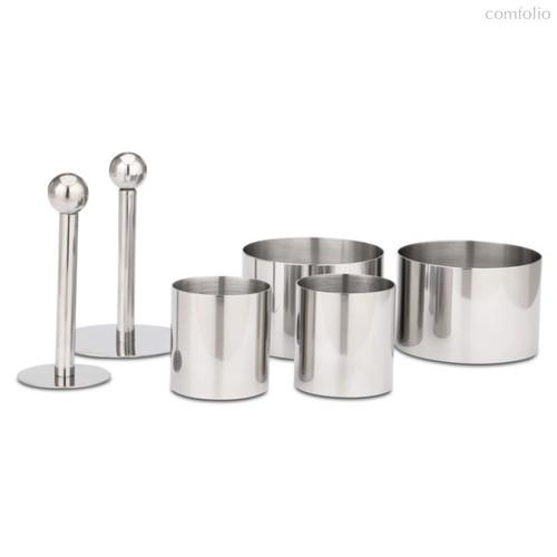 Набор десертных колец с толкателями Weis ( 4 кольца, 2 толкателя), сталь нержавеющая, п/к - Weis