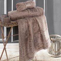 """Полотенце бамбуковое """"KARNA"""" ARMOND 50х90 см 1/1, цвет капучино, 50x90 - Bilge Tekstil"""